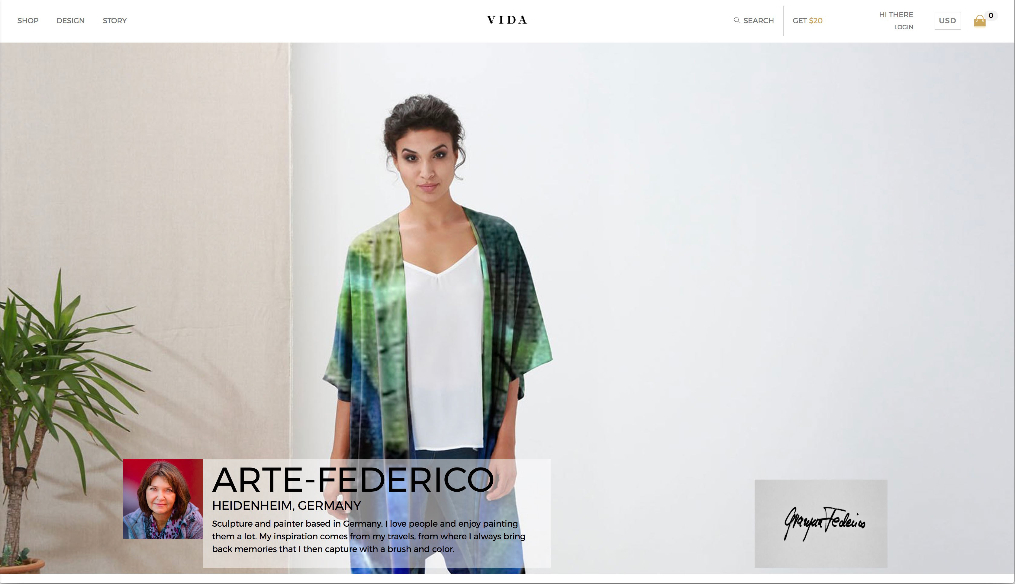 Arte-Federico Vida Shop Page